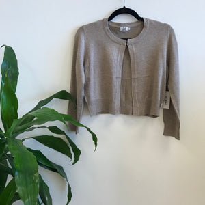 Short Tan Cardigan