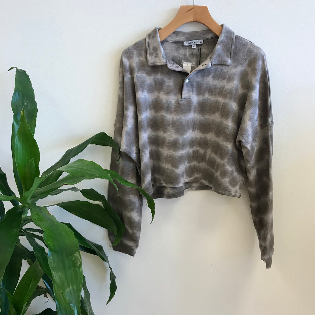 Calista Tie Dye Collared Sweater