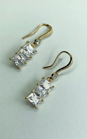 18k Gold Plated CZ Earrings