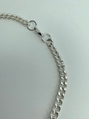 Silver Diamond Cut Chain Necklace