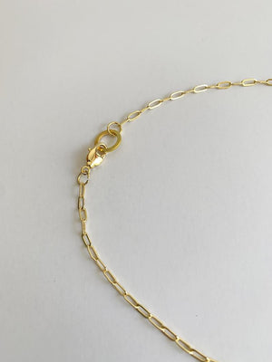 18k Gold Oval Link Chain Necklace