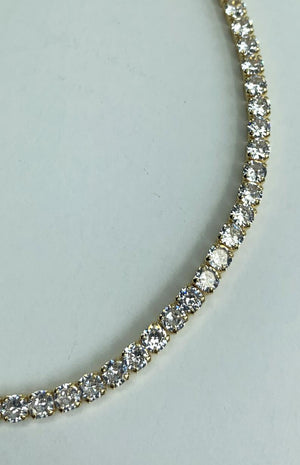 18k Gold Plated Square CZ Choker