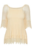 Cream 10606452 Katrina blouse