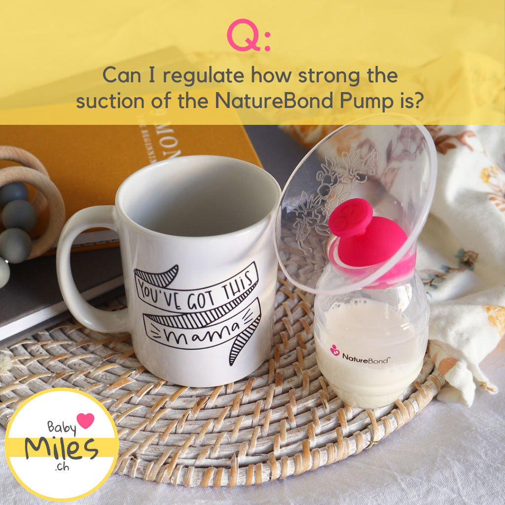 The NatureBond Pump next to a cup of tea - BabyMiles.ch