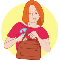 A woman putting the NatureBond Silicone Breast Pump in her handbag - BabyMiles