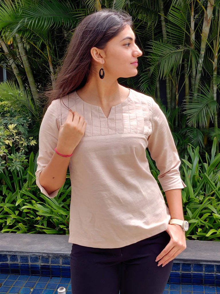 Cinnamon Closet Linen Top Smart Casuals For Women In India Online