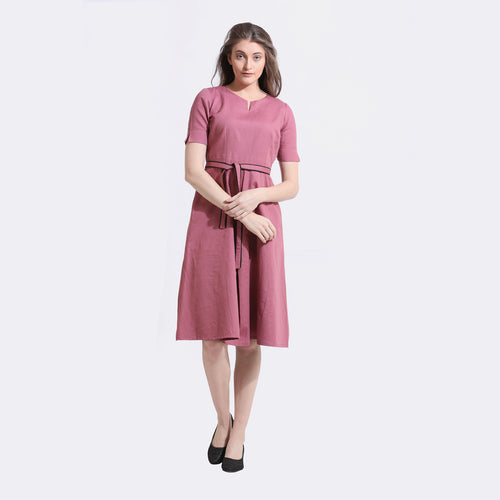The Work Label - Rose A-line Classic Pocket Dress -  Women's western work-wear in India