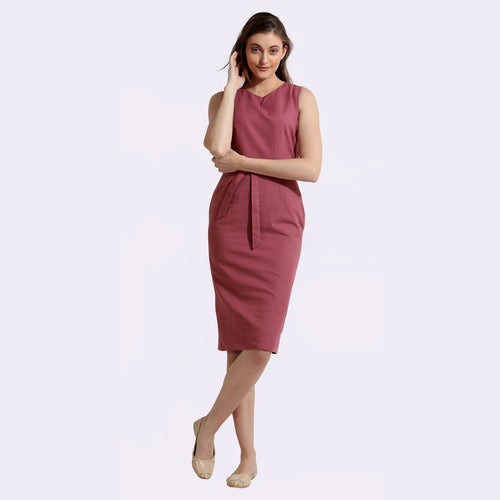 The Work Label - Rose Straight fit Chic Dress -  Women's western work-wear in India