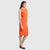 Orange Straight Fit Pocket Dress