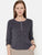 The Work Label - Grey Corduroy Round Neck Top - Women's western work-wear in India