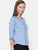 Blue Chambray Round Neck Top