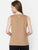Brown Self Design Sleeveless Top