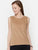 The Work Label - Brown Self Design Sleeveless Top - Women's western work-wear in India