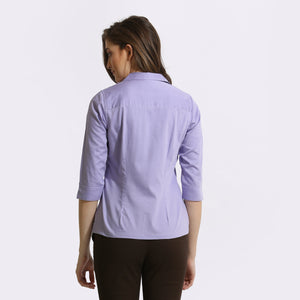 Purple chambray 3/4th Sleeve Shirt