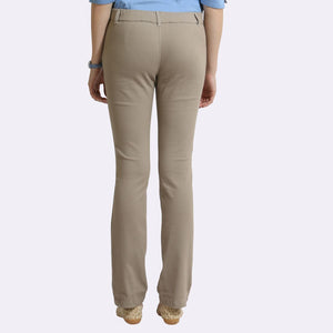The Elasto Pants Cotton Super Stretch Pull On Light Brown