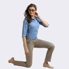 Load image into Gallery viewer, The Elasto Pants Cotton Super Stretch Pull On Light Brown