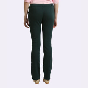 The Elasto Pants Cotton Super Stretch Pull On Deep Green