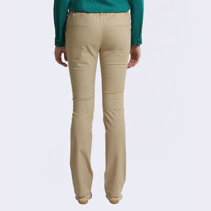 The Elsa Pants Cotton Stretch Beige