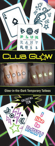 Club Glow (Glow-in-the-Dark) Tattoos
