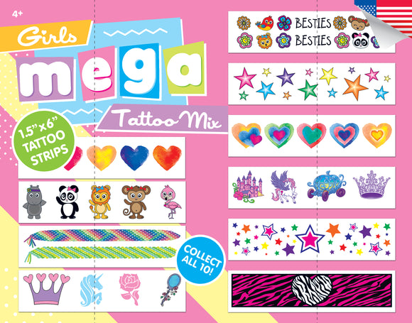 Girls Mega Strip Mix - 2 Inch Capsules - DISPLAY CARD
