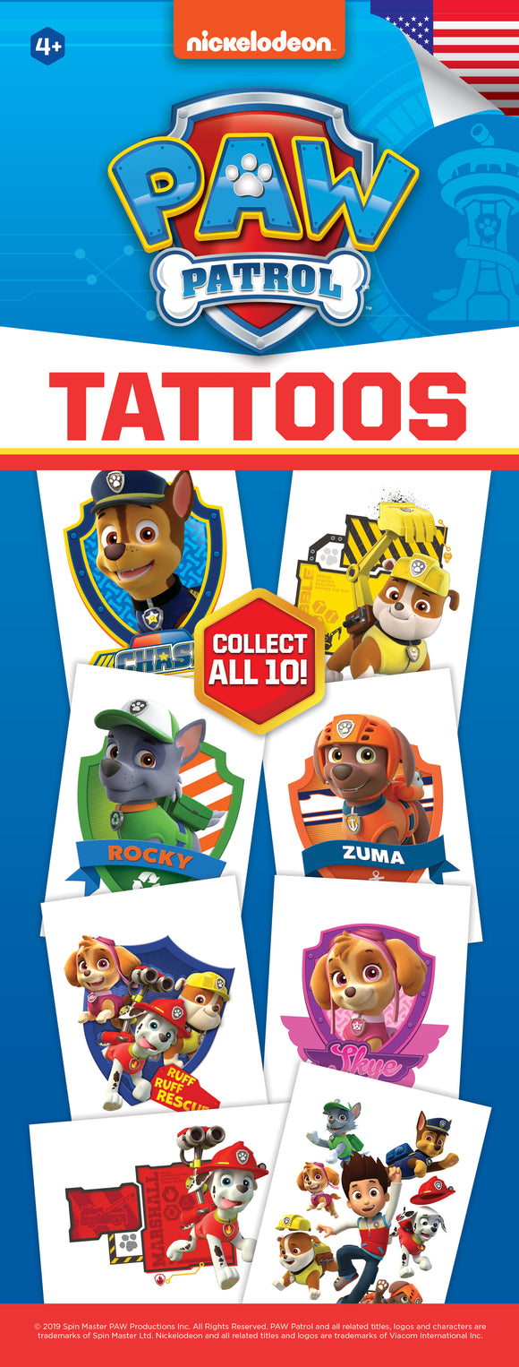 Paw Patrol Tattoos - Nickelodeon