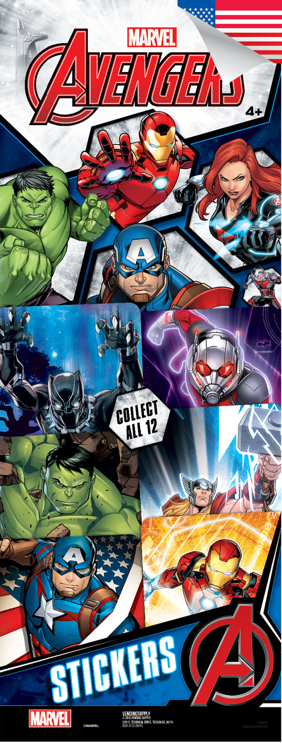 Avengers Assemble 4 Stickers - Marvel