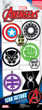 Avengers ICON Glow in the Dark Tattoos - Marvel