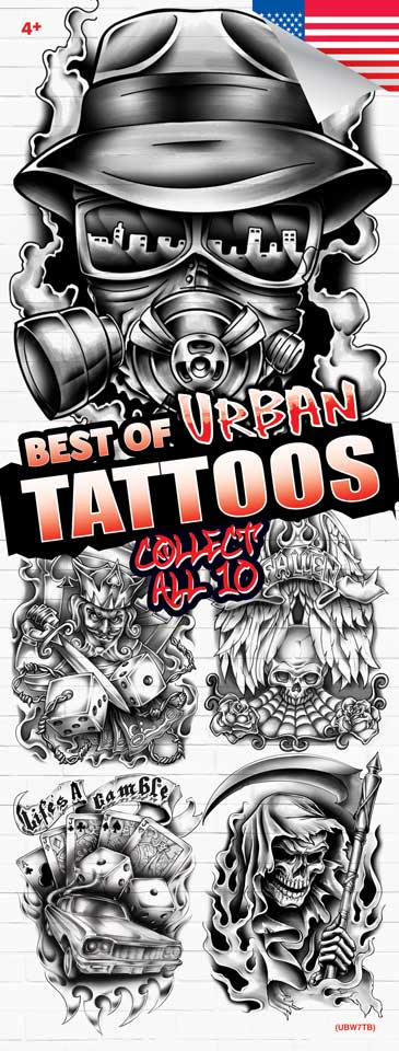 EARLY RELEASE! NEW - Urban Black & White 7 Tattoos