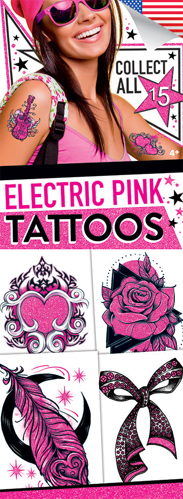 Electric Pink Shimmer 5 Tattoos