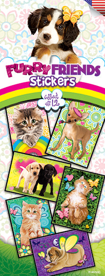 Furry Friends 3 Stickers - Special Deal on Remaining Boxes!