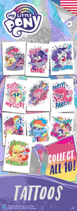 My Little Pony 3 Tattoo - DISPLAY CARD - Hasbro