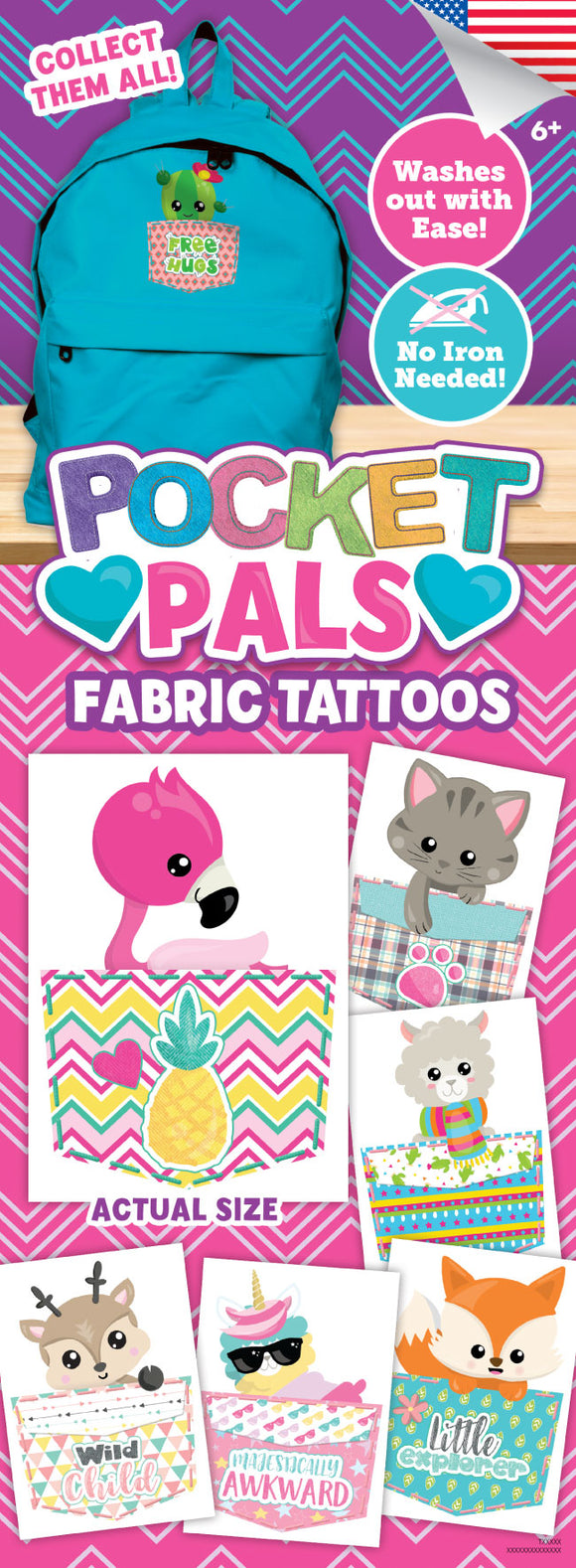 Pocket Pals FABRIC Tattoos