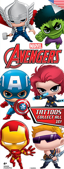 TeamUp Avengers Tattoos - Marvel