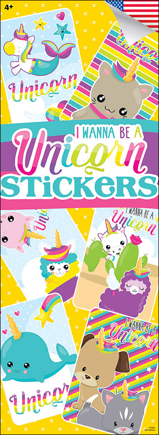 I Wanna Be A Unicorn Stickers