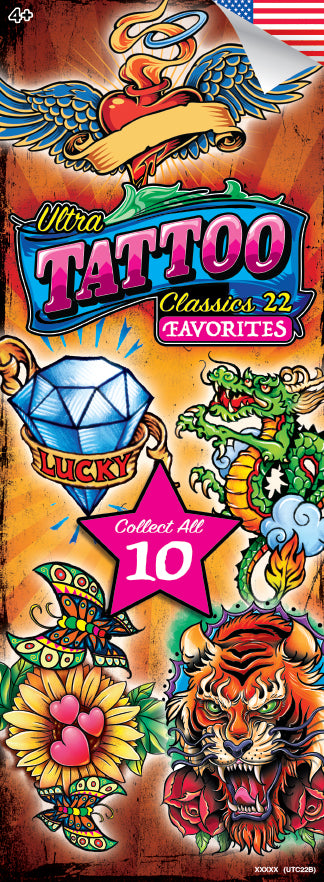 EARLY RELEASE!  NEW - Ultra Tattoo Classic 22 Tattoos