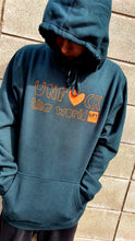 Load image into Gallery viewer, Mens: Unf*ck the World Hoody in Pine w Orange