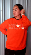 Load image into Gallery viewer, Unisex: Unf*ck the World  Crew In Orange w White
