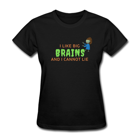 I Like Big Brains Zombie T-Shirt - black