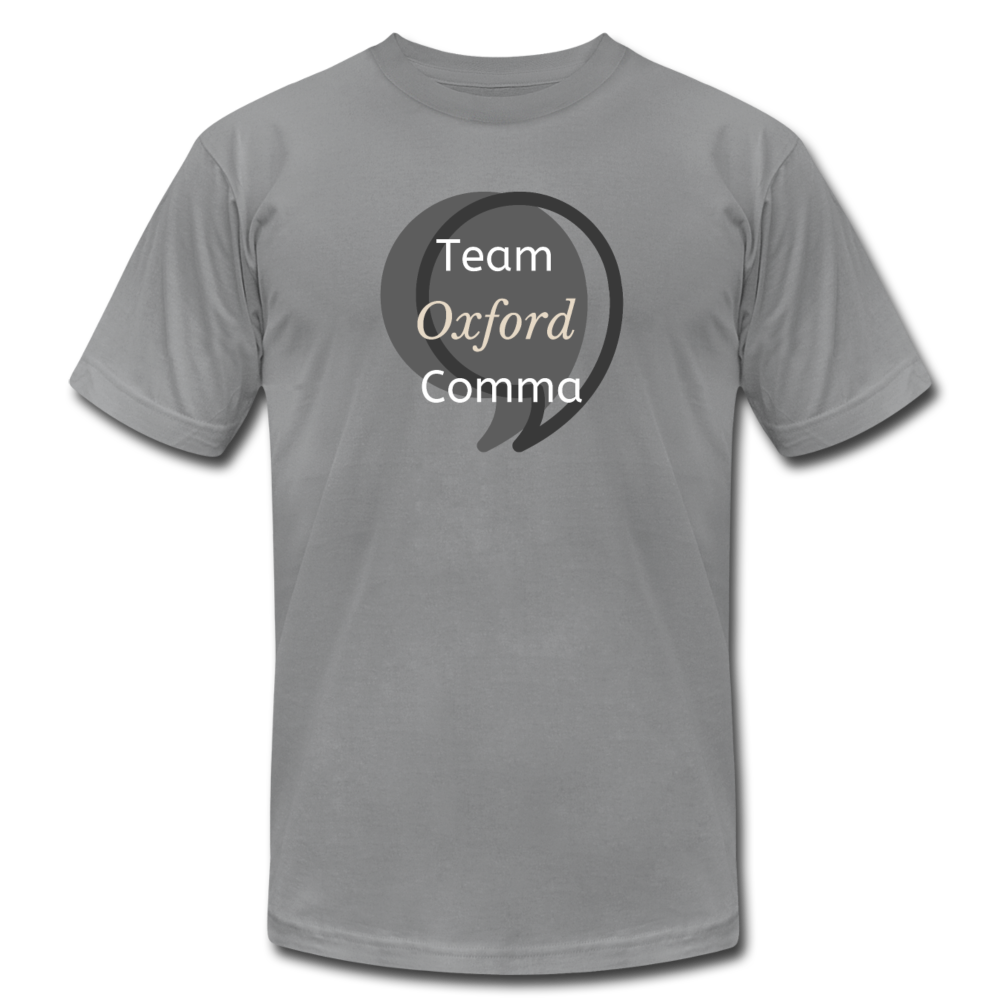 Team Oxford Comma Men's T-Shirt - slate