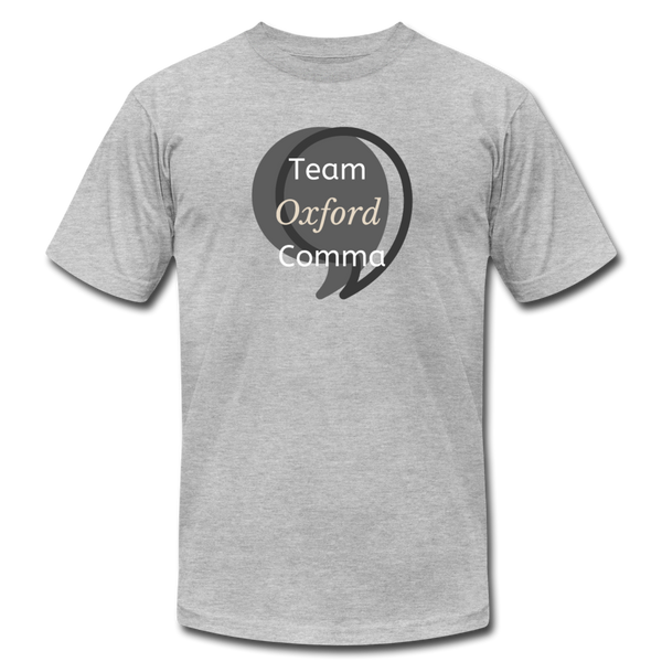 Team Oxford Comma Men's T-Shirt - heather gray
