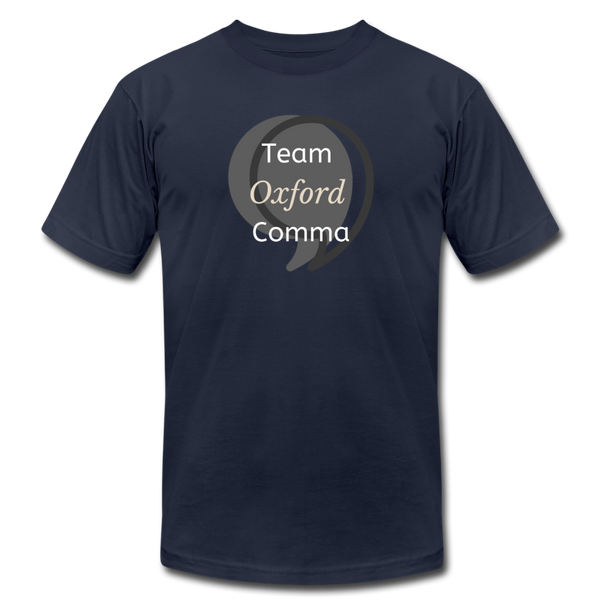 Team Oxford Comma Men's T-Shirt - navy