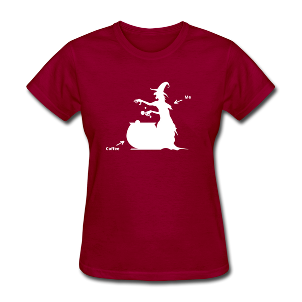 Coffee Brew Women's T-Shirt - dark red