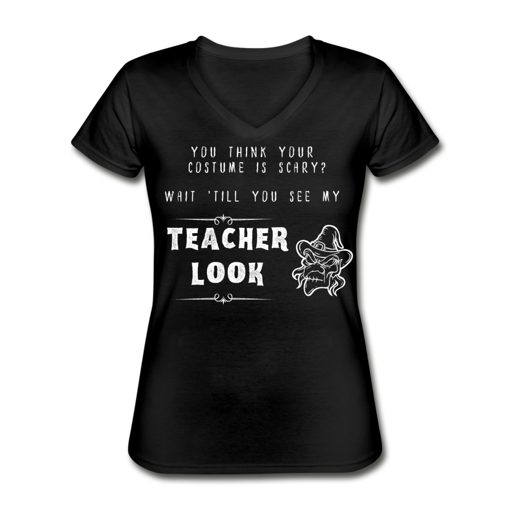 Teacher Look Women's V-Neck - black