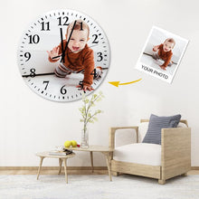 Load image into Gallery viewer, Custom Meaningful Gift Environmental Wood Material Photo Wall Clock