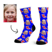Load image into Gallery viewer, Custom Heart Love Socks -