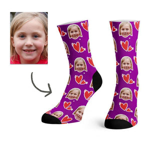 Custom Heart Love Socks -