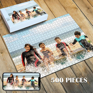 Custom Photo Jigsaw Puzzle Best Personalized Gift 35-1000 pieces - faceonboxer