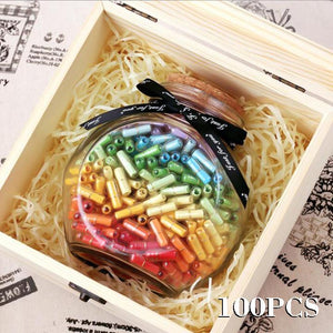 Copy of 100pcs Glow Mini Pill Shaped Message Capsule Letter In A Bottole With Box