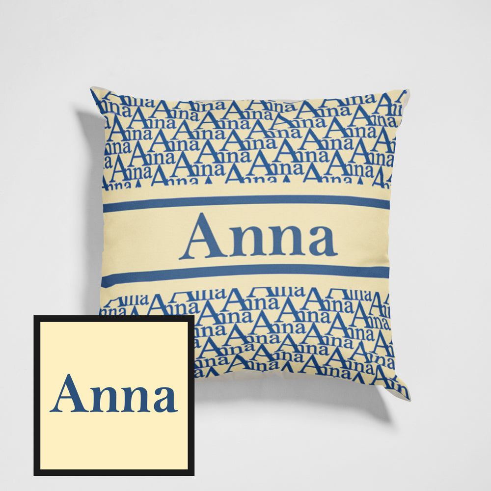 Classic Custom Name Throw Pillow For Gifts Ideas Personalized Pillow Home Decos 15.75