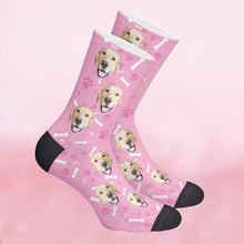 Load image into Gallery viewer, Custom Bone Pattern Pet Face Socks